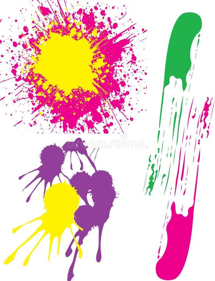 Éclabousse des peintures colorées photo stock