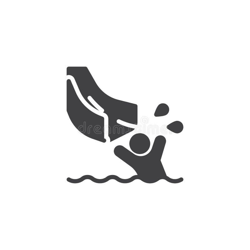 Éclaboussement dans l'icône de vecteur de piscine illustration de vecteur