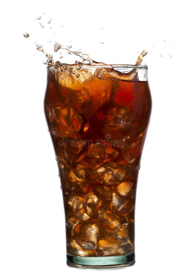 Éclaboussement de la boisson de kola photographie stock
