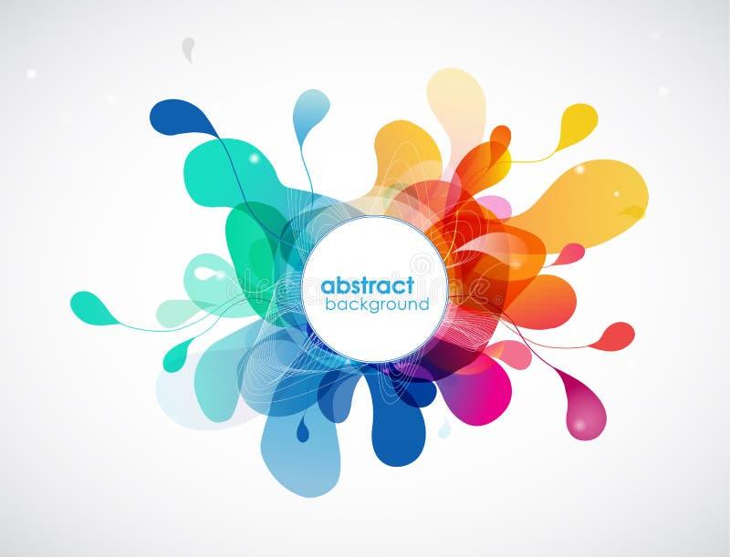 Éclaboussure abstraite de couleur illustration stock