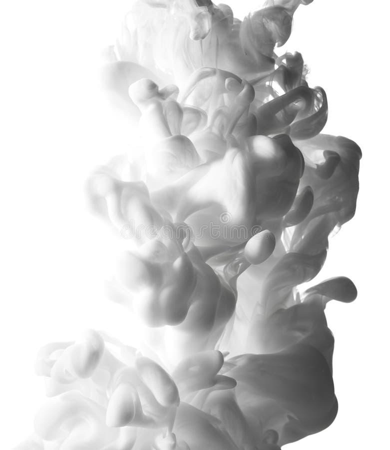 Éclaboussure abstraite de la peinture blanche image libre de droits