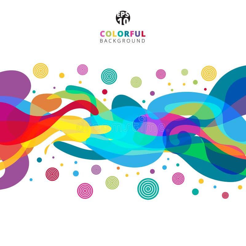 Éclaboussure colorée abstraite de couleur sur le fond blanc avec la station thermale de copie illustration libre de droits
