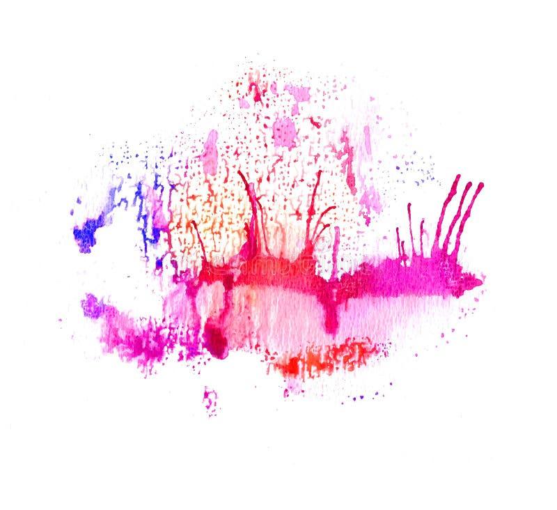 Download Éclaboussure Colorée D'aquarelle Illustration Stock - Illustration du effet, handmade: 77163415