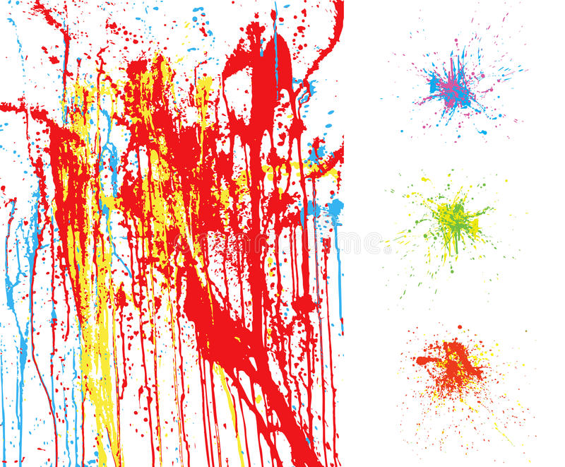 éclaboussure colorée de milieux illustration libre de droits