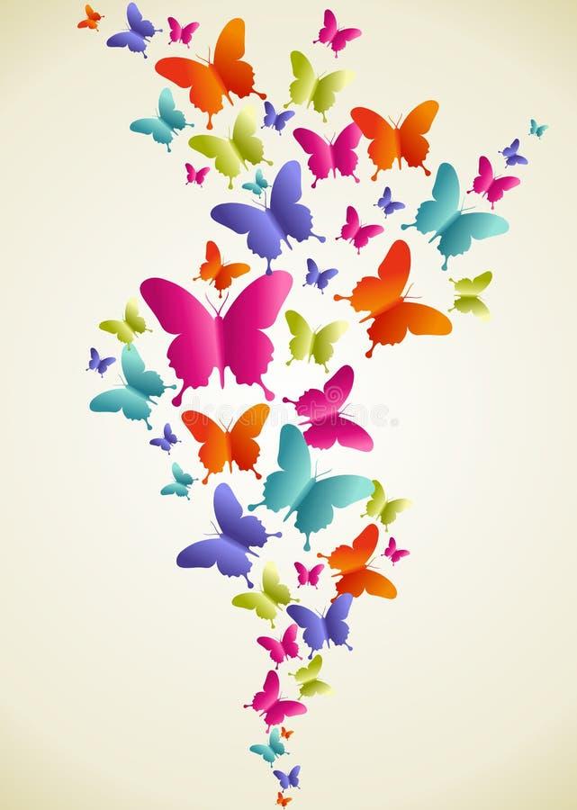Éclaboussure colorée de papillon illustration de vecteur