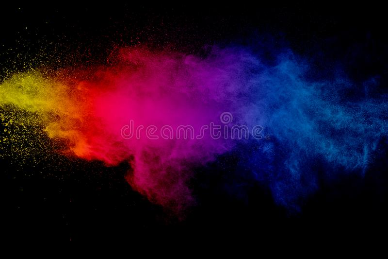 Éclaboussure colorée multi de poudre images stock