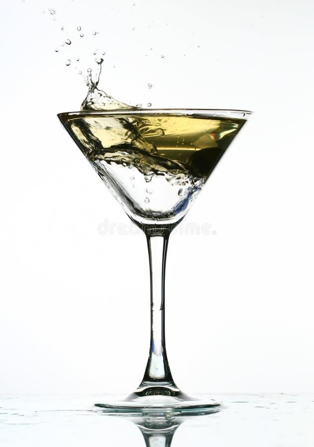 Éclaboussure d'alcool photographie stock libre de droits