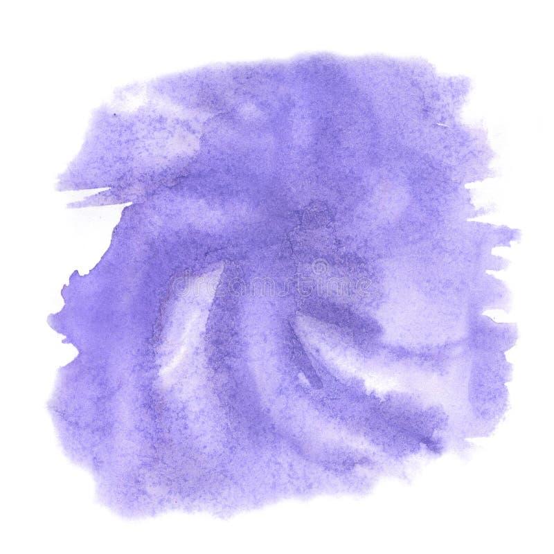 Éclaboussure d'aquarelle la baisse abstraite d'aquarelle a isolé la tache pourpre pour votre art de conception illustration stock