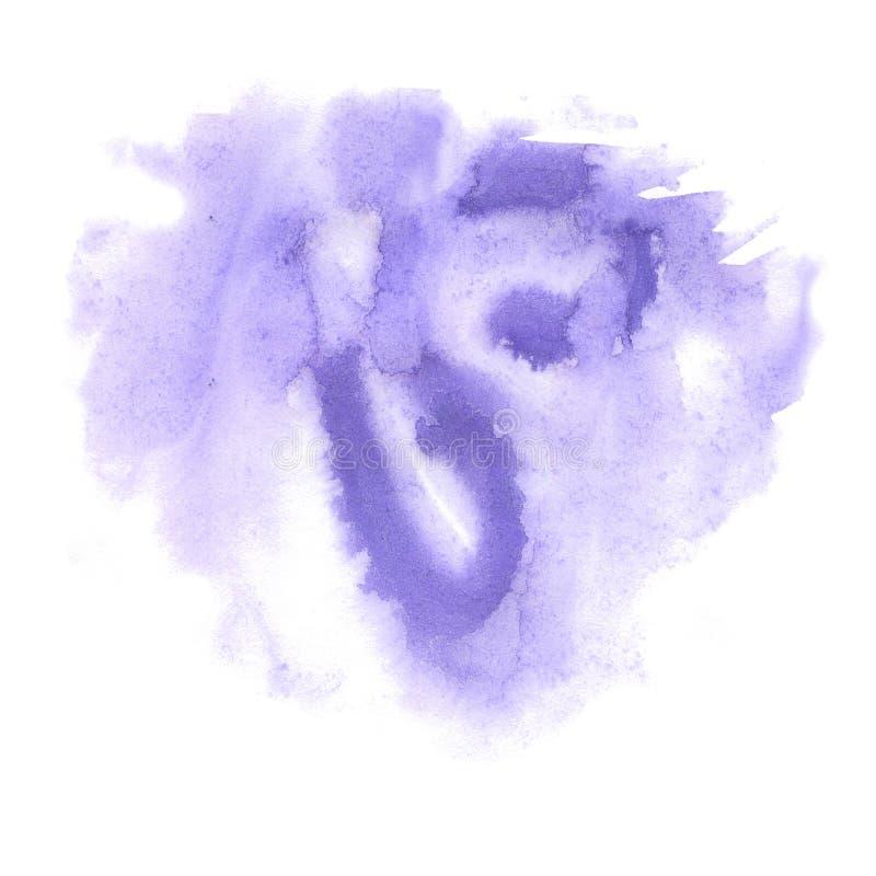 Éclaboussure d'aquarelle la baisse pourpre abstraite d'aquarelle a isolé la tache pour votre art de conception illustration de vecteur