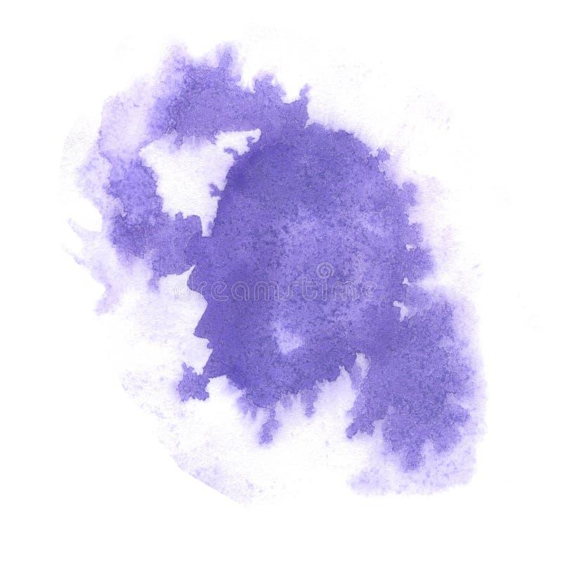Éclaboussure d'aquarelle le pourpre abstrait de baisse d'aquarelle a isolé la tache pour votre art de conception illustration de vecteur