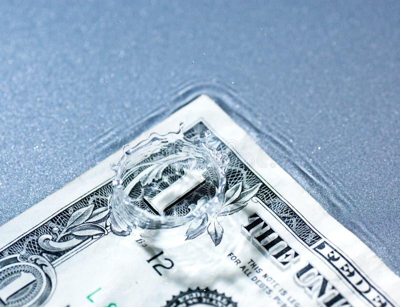 éclaboussure d'argent photographie stock libre de droits