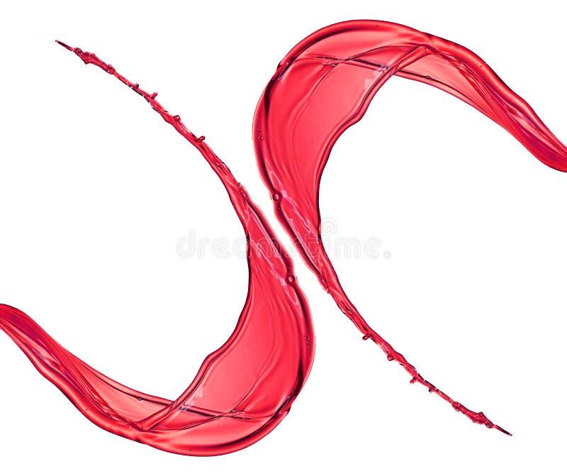 Éclaboussure d'isolement de couleur de vin rouge photo stock