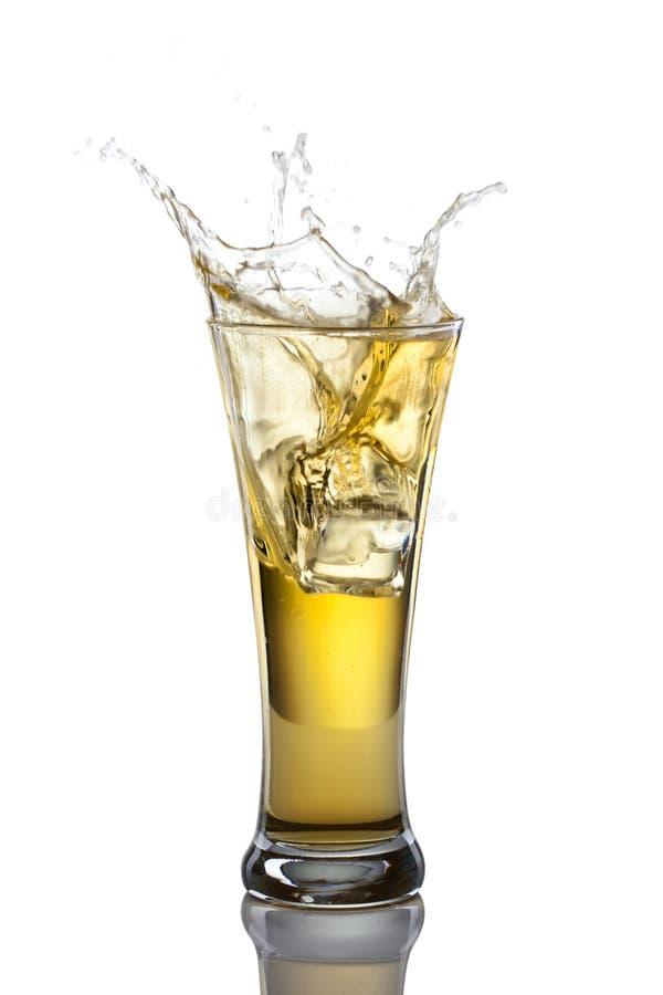 Éclaboussure de bière images libres de droits