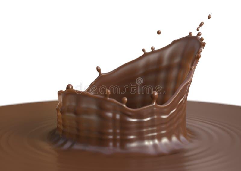 Éclaboussure de chocolat images libres de droits