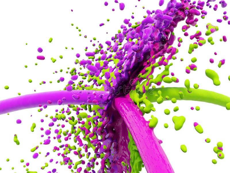 éclaboussure de couleur illustration de vecteur
