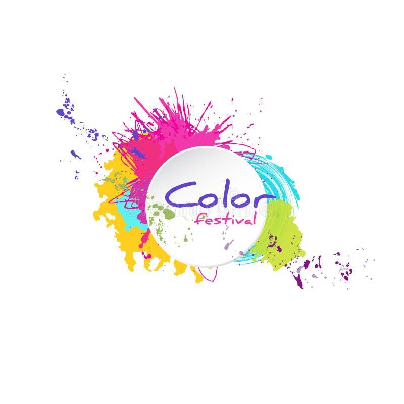 Éclaboussure de couleur avec le cadre blanc illustration libre de droits