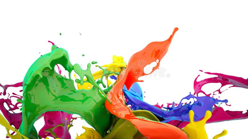 Éclaboussure de couleurs illustration stock