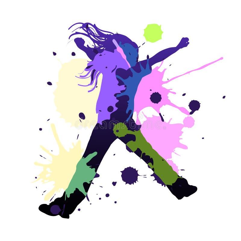 éclaboussure de danse illustration libre de droits