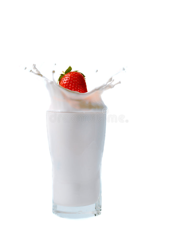 Éclaboussure de fraise photo stock