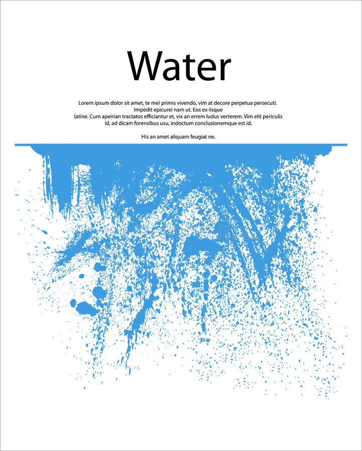 Éclaboussure de l'eau illustration stock