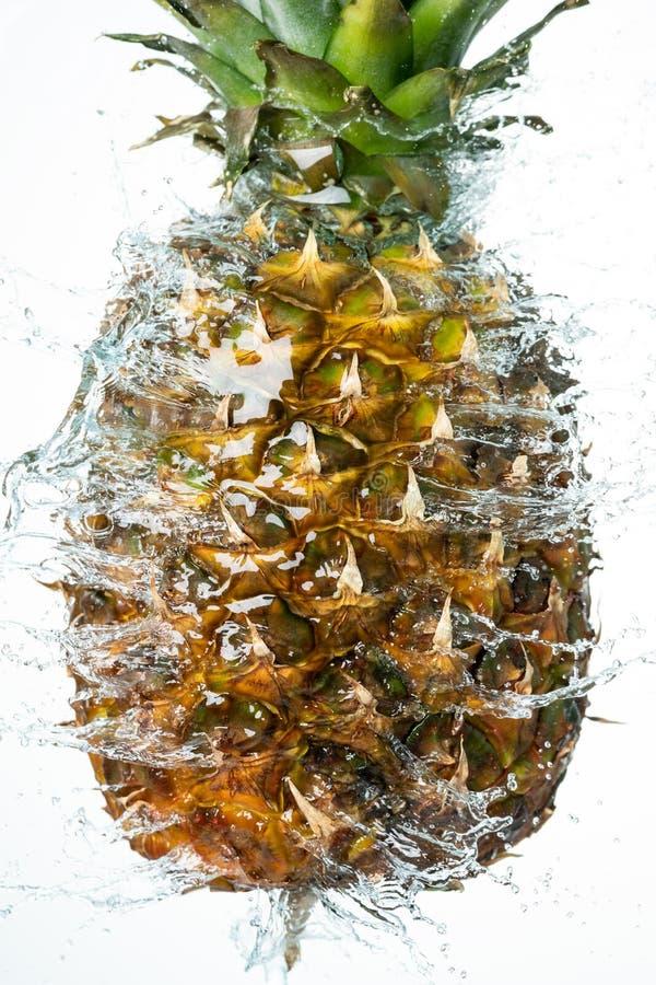 Éclaboussure de l'eau d'ananas images libres de droits