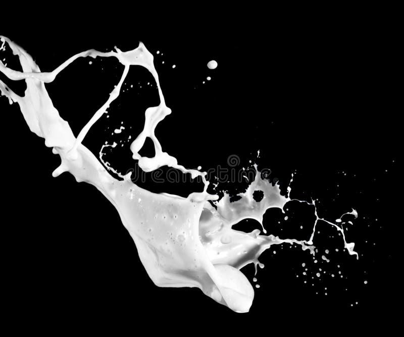 Éclaboussure de lait photographie stock