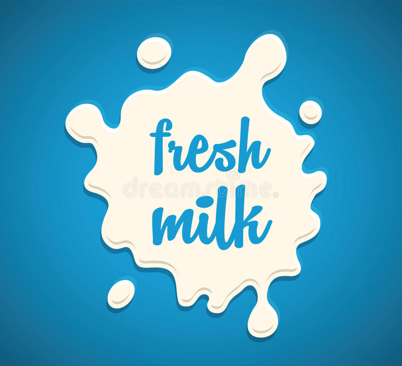 Éclaboussure de lait illustration de vecteur