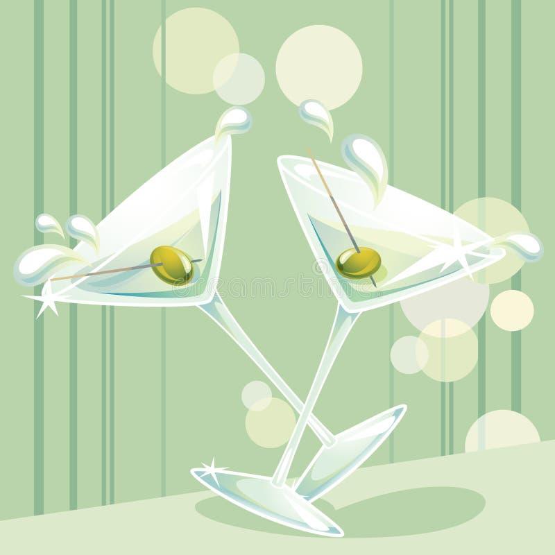 Éclaboussure de Martini illustration libre de droits