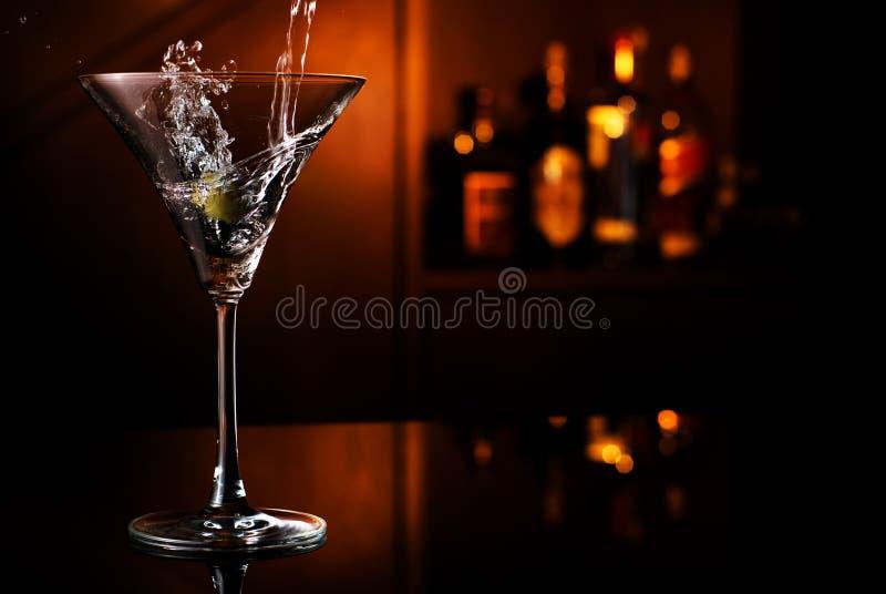 Éclaboussure de Martini images libres de droits