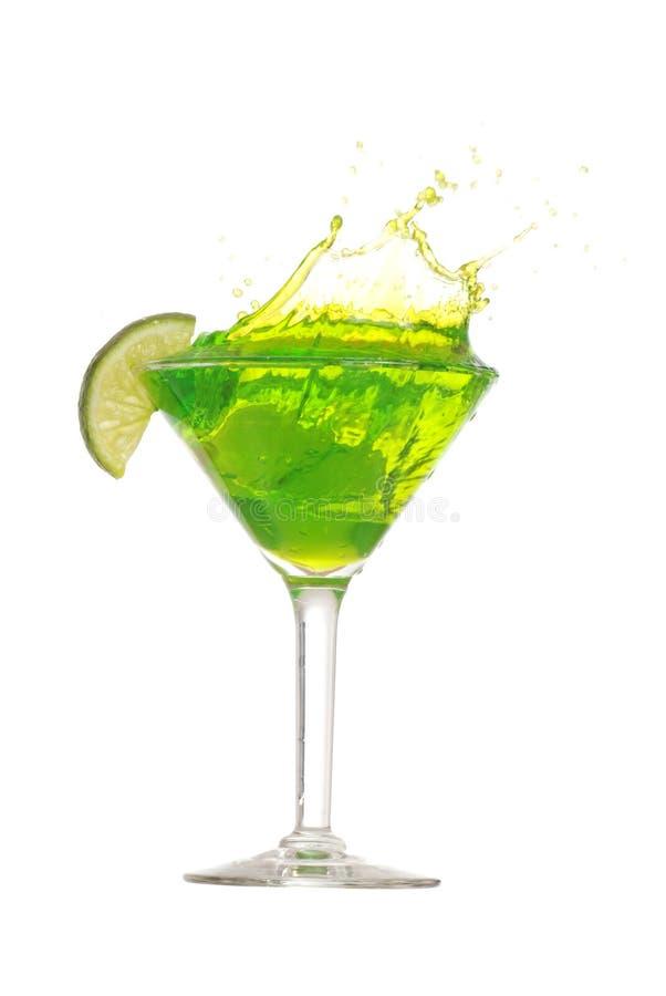 Éclaboussure de martini de limette photo stock