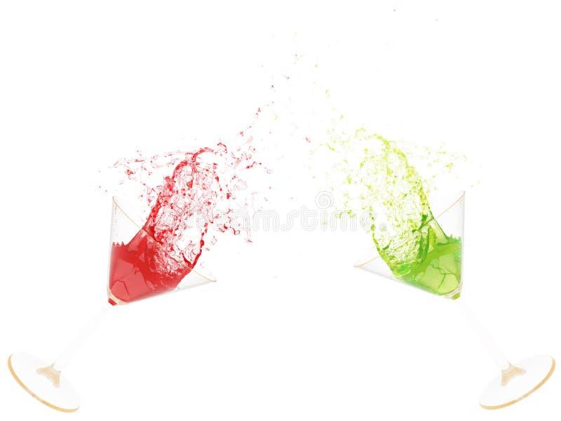 éclaboussure de martini des glases 3d photo libre de droits