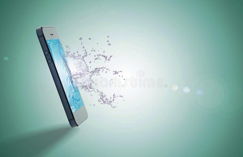 Éclaboussure de mobiles photo libre de droits