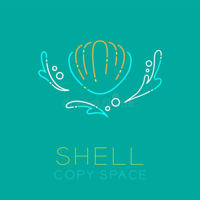 Éclaboussure de mollusques et crustacés, d'eau et ensemble de course d'ensemble d'icône de bulle d'air illustration libre de droits