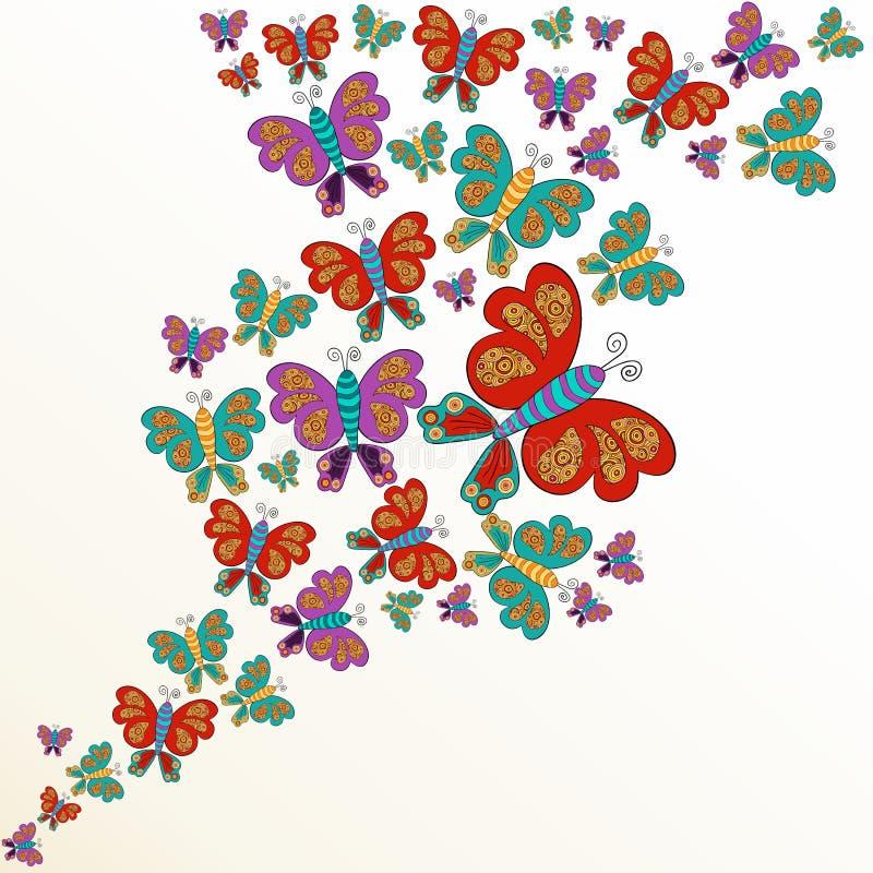 Éclaboussure de papillon de ressort illustration de vecteur