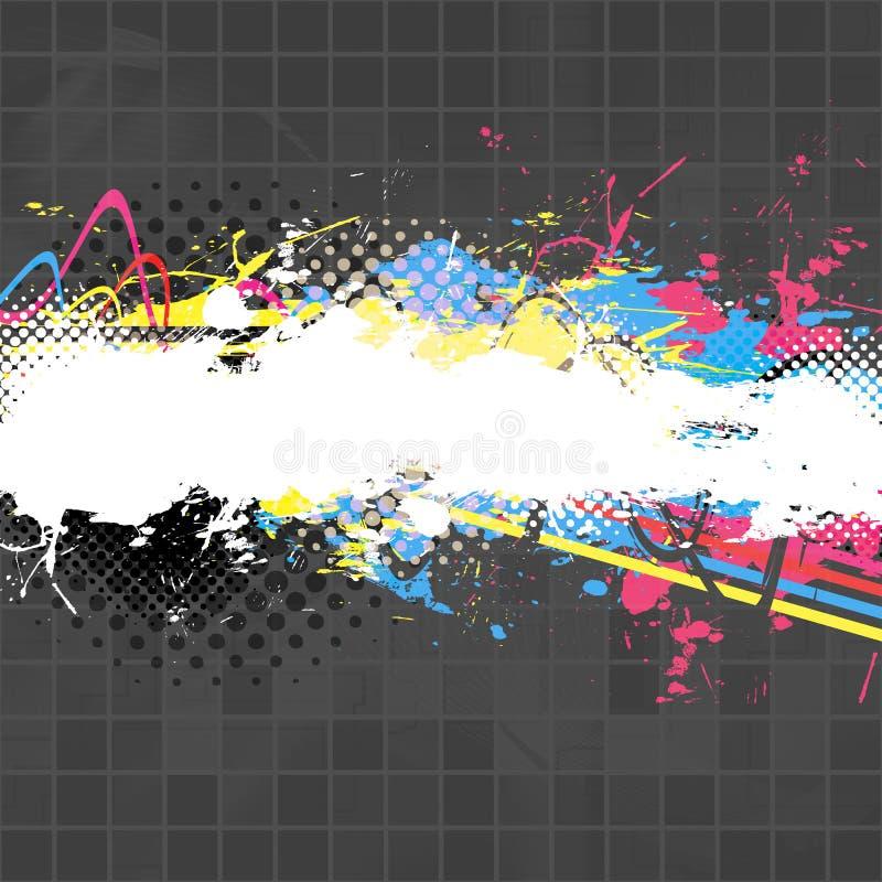 éclaboussure de peinture de disposition illustration de vecteur
