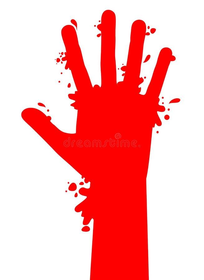 Éclaboussure de sang illustration stock