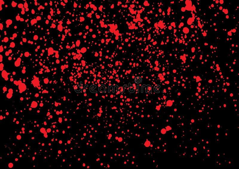 Éclaboussure de sang dans la couleur rouge d'encre sur le fond