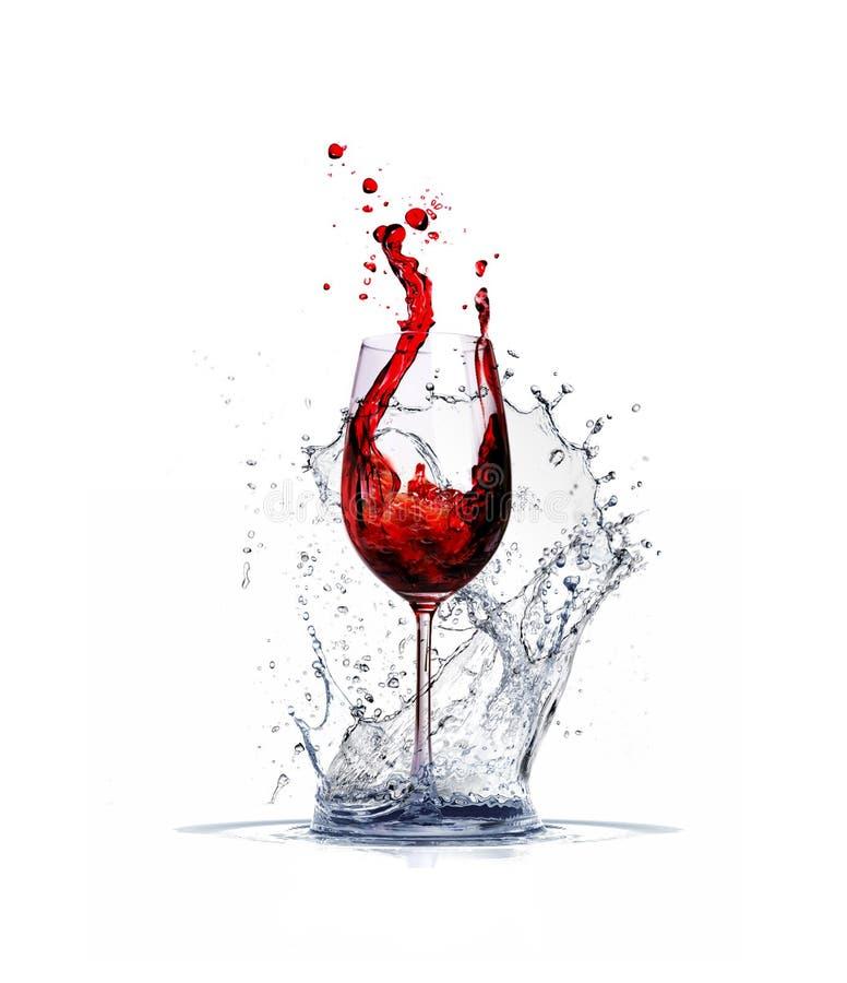 Éclaboussure de vin photo stock