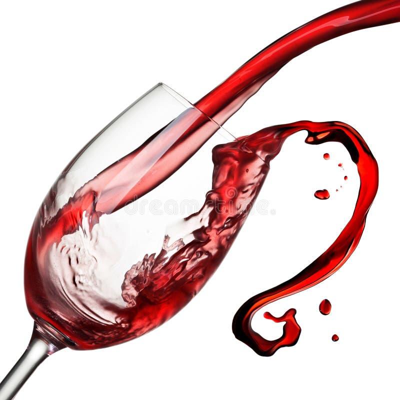 Éclaboussure de vin d'isolement photos stock