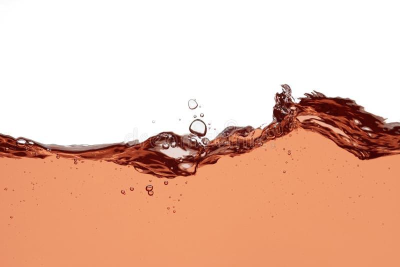 Éclaboussure de vin de Rose - fermez-vous vers le haut du fond abstrait photo libre de droits