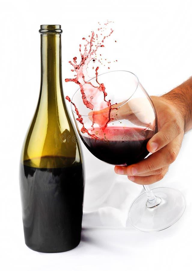 Éclaboussure de vin rouge photographie stock libre de droits