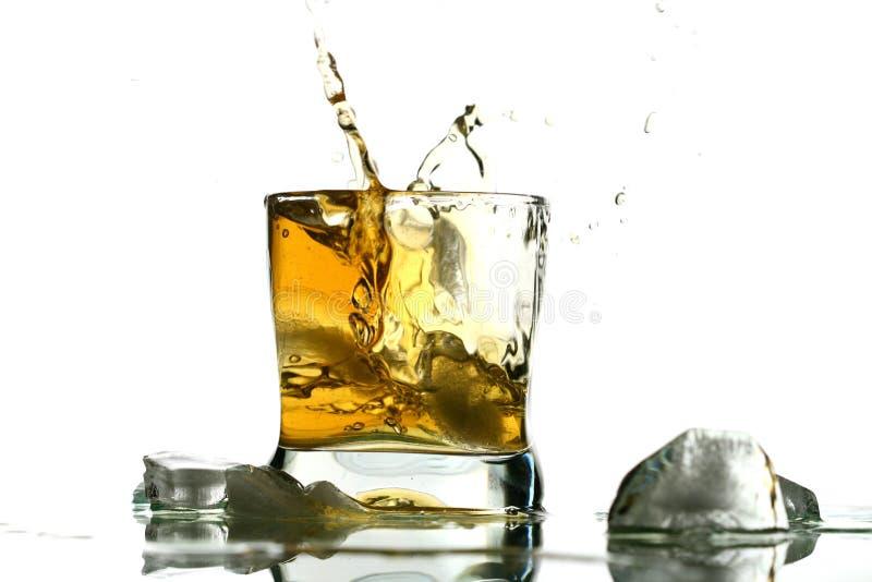 Éclaboussure de whiskey photos libres de droits