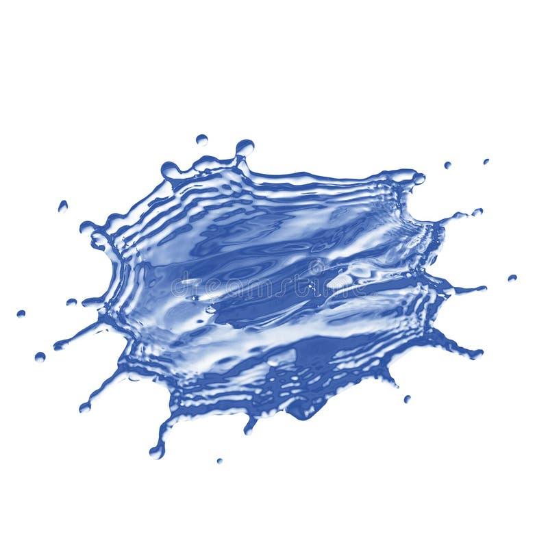 Éclaboussure des baisses de l'eau photographie stock libre de droits