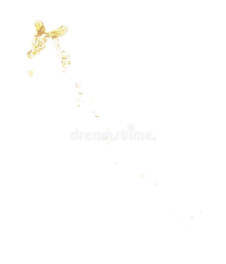 Éclaboussure du liquide dans le mouvement d'isolement images stock