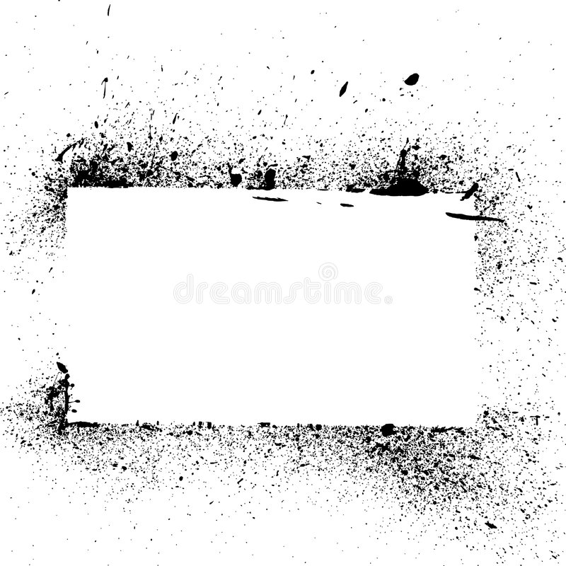 Éclaboussure grunge et égouttement de peinture illustration stock