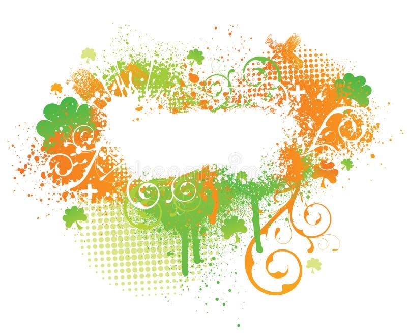 éclaboussure irlandaise d'oxalide petite oseille de peinture illustration de vecteur
