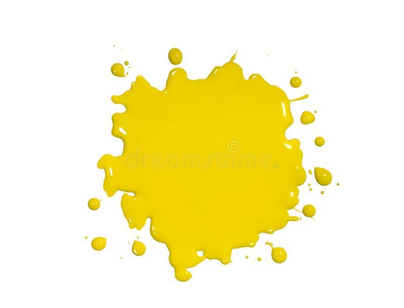 Éclaboussure jaune de peinture images libres de droits