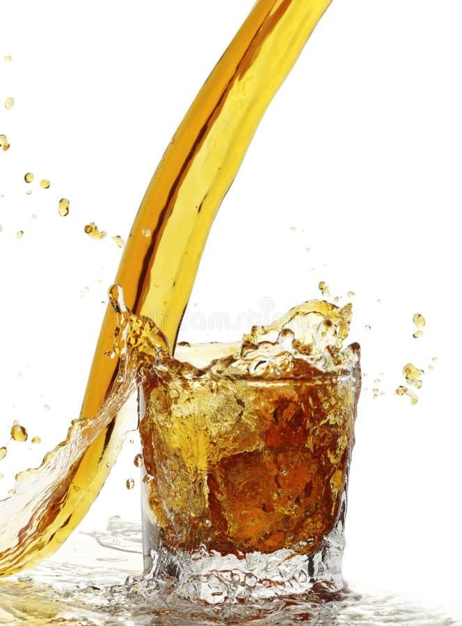 Éclaboussure liquide jaune image libre de droits