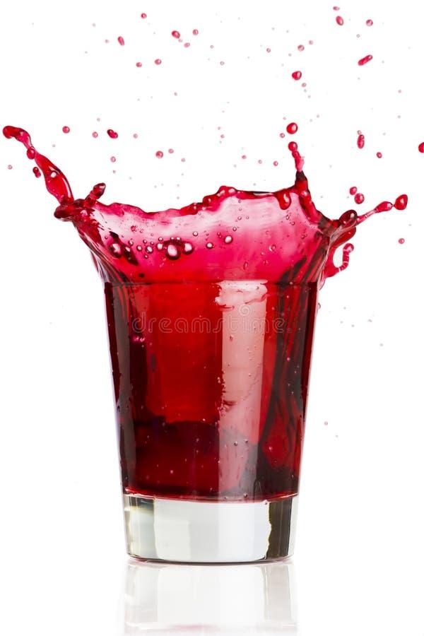 Éclaboussure liquide rouge image stock