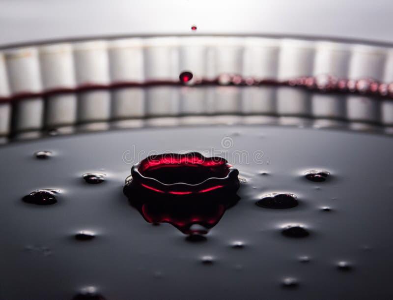 Éclaboussure liquide rouge photo libre de droits